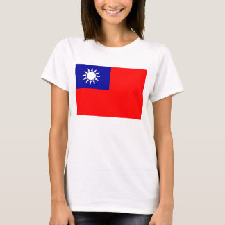 Women T Shirt with Flag of Taiwan