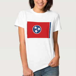 Women T Shirt with Flag of Tennessee State