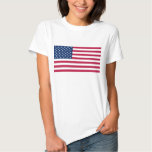 Women T Shirt with Flag of the USA