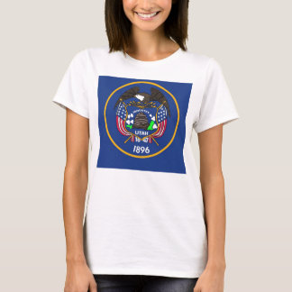 Women T Shirt with Flag of Utah State