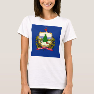 Women T Shirt with Flag of Vermont State