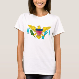 Women T Shirt with Flag of Virgin Islands