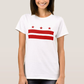 Women T Shirt with Flag of Washington DC