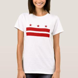 Women T Shirt with Flag of Washington DC
