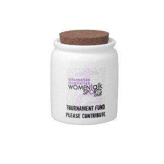 Women Talk Sports Tournament Jar Candy Jar