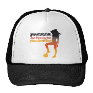 Women, the better soccer players trucker hat