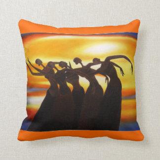 Women Unite African Art Throw Pillow