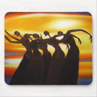 Women Unite under the Sunset African Art Mousepad