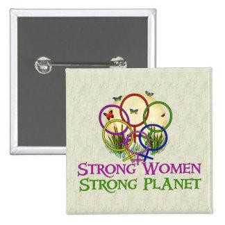Women United 2 Inch Square Button