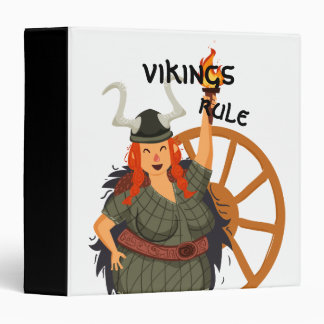 Women Vikings Rule Binder