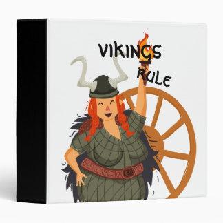 Women Vikings Rule Vinyl Binder