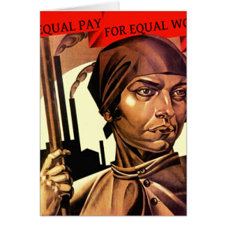 Women Vintage Equal Pay for Equal Work Note Cards