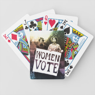 Women Vote Bicycle Playing Cards