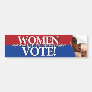 Women Vote - Remember in November 2 Bumper Sticker