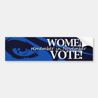 Women Vote - Remember in November 7 Bumper Stickers