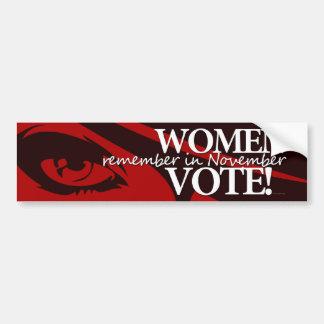 Women Vote - Remember in November 8 Bumper Sticker