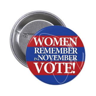 Women Vote - Remember in November - Button