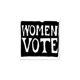 Women Vote Sign Rubber Stamp