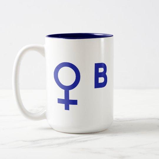 women voting for Obama Two-Tone Coffee Mug
