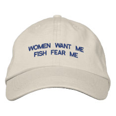 Women Want Me Embroidered Hat at Zazzle