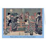 Women watching a sumō match by Utagawa,Toyokuni Card