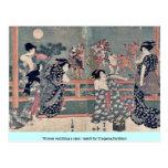 Women watching a sumō match by Utagawa,Toyokuni Post Cards