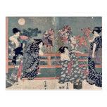 Women watching a sumō match by Utagawa,Toyokuni Post Card