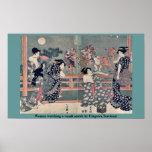 Women watching a sumō match by Utagawa,Toyokuni Poster