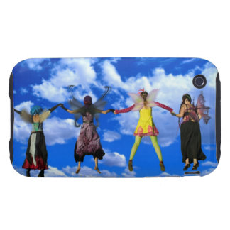 Women wearing fairy costumes flying through the iPhone 3 tough cover