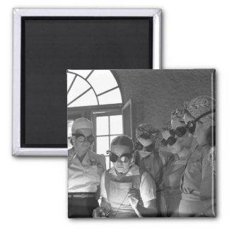Women Welders in WWII, 1940s 2 Inch Square Magnet