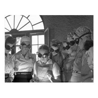 Women Welders in WWII, 1940s Postcard