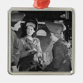 Women Welders Metal Ornament