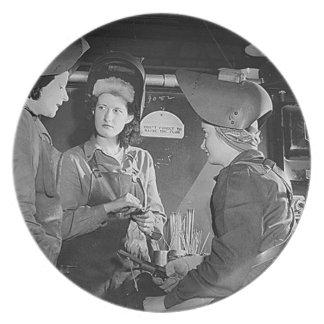 Women Welders Plate