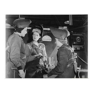 Women Welders Postcard