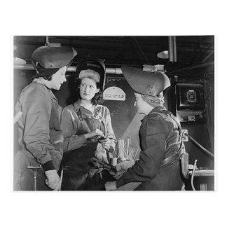 Women Welders Postcard