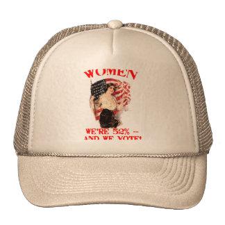 WOMEN - We're 52% and We Vote! Trucker Hat
