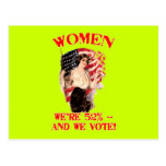 WOMEN - We're 52% and We Vote! Postcards