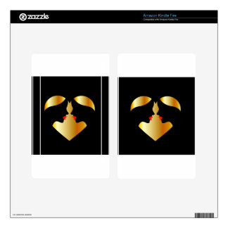Women whispering in the dark forming a heart kindle fire skins