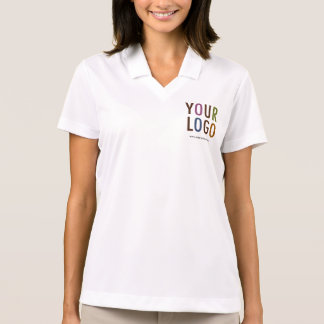 Women White Polo Shirt with Custom Logo No Minimum