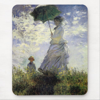 Women with a Parasol ~ Madame Monet with Her Son Mouse Pad