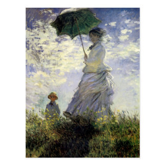 Women with a Parasol ~ Madame Monet with Her Son Postcard