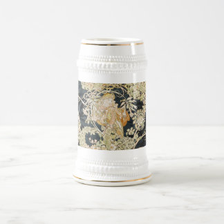 Women with Daisies Art Nouveau Beer Stein