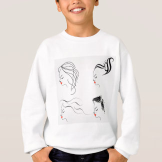 Women with different hairstyles sweatshirt