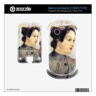 Women With Topknots by Eugène Henri Paul Gauguin Samsung Gravity 3 Skin
