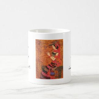 Women with Waist Flowers Chen Yongle oriental  art Coffee Mug