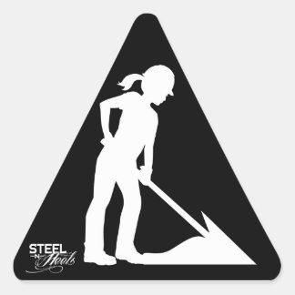 Women Working Construction Themed Sticker