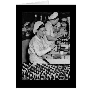 Women Working in Munitions Plant WWII Card