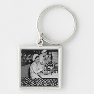 Women Working in Munitions Plant WWII Key Chains