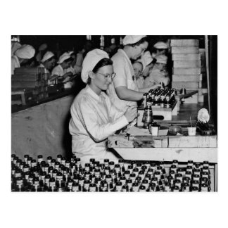Women Working in Munitions Plant WWII Postcards
