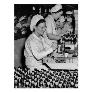 Women Working in Munitions Plant WWII Postcard